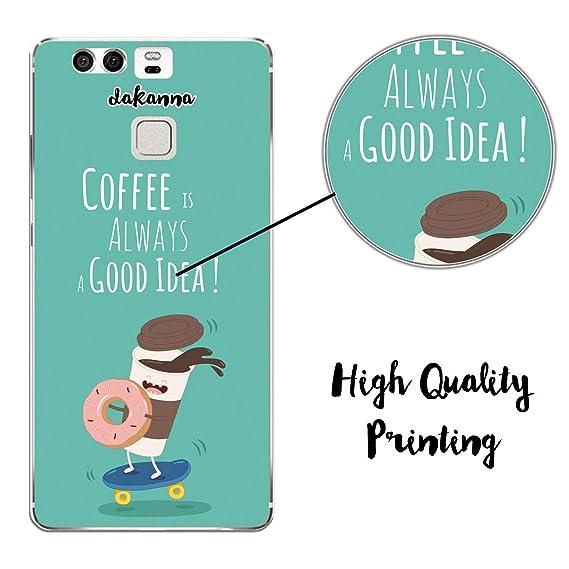 dakanna Funda para Huawei P9 | Comida Café y Donut en ...