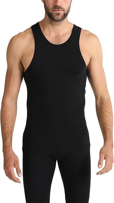 Ultrasport Camiseta interior para hombre / camiseta de tirantes para hombres y jóvenes, con tirantes anchos para una gran comodidad – camiseta funcional / de compresión para el deporte, el ocio y