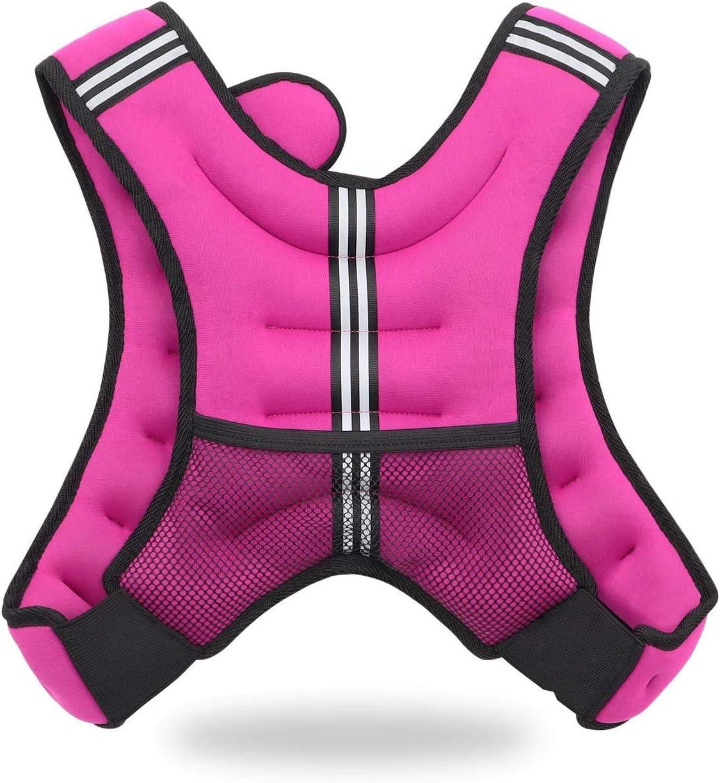 Jolitac Gewichtweste Trainingsweste Gewichte Fitness Weste Laufweste Sport Gewichtsweste f/ür Herren Damen Kinder