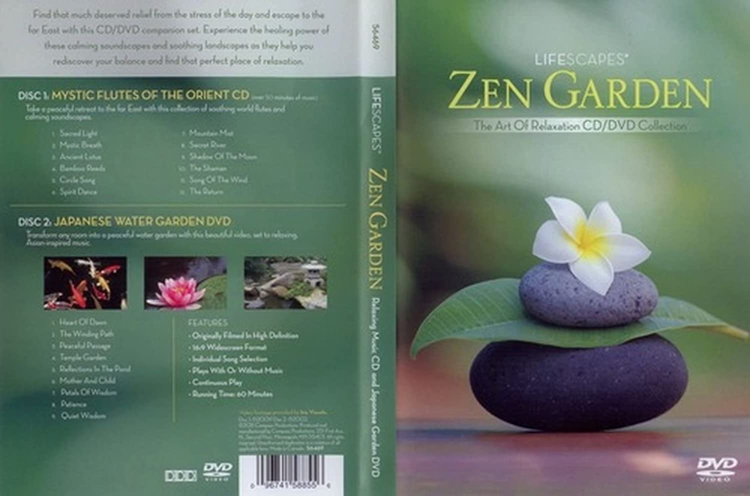 Lifescapes Zen Garden CD / DVD - The Art of Relaxation Mystic Flutes of the Orient CD / Japanese Water Garden DVD