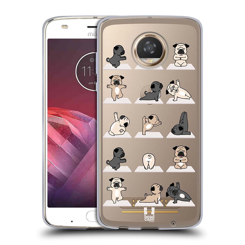Head Case Designs Cat Yoga Animals Soft Gel Case for Motorola Moto Z2 Play