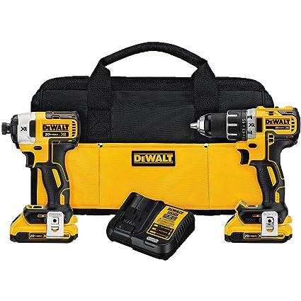 dewalt dck283d2 20v max xr compact cordless drill/driver & impact ...