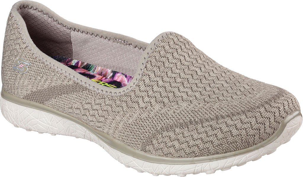 Skechers Microburst All Mine Womens Slip on Sneakers B01EOQZ61I 9.5 B(M) US|Taupe