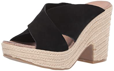 228540921d Chinese Laundry Women's Quay Espadrille Wedge Sandal, Black Suede, ...