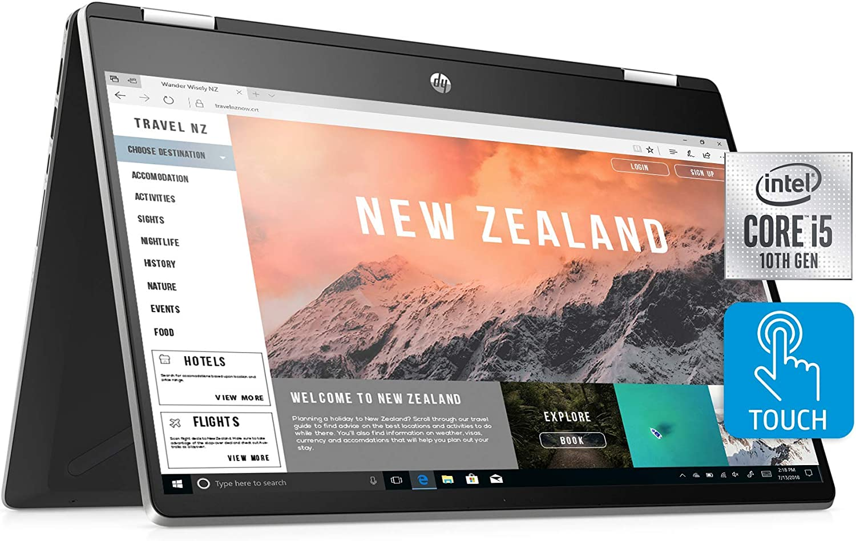 HP Pavilion x360 14-inch 2-in-1 Convertible , Intel Core i5, 8 GB RAM, 512 GB SSD Storage, Intel UHD Graphics, win10 Home,(14-dh2011nr, Silver) (Renewed)