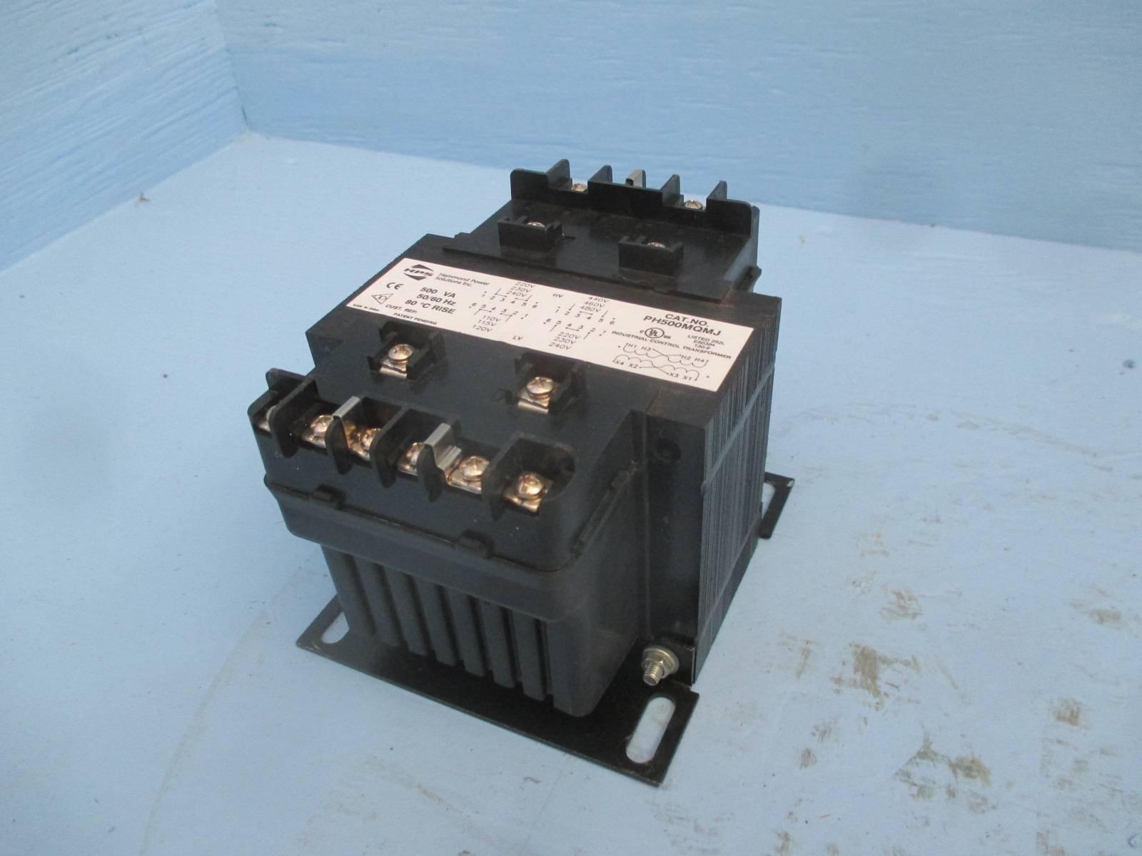 HPS PH500MQMJ 500 VA 240/480 - 120/240 Industrial Control Transformer .5 kVA 1PH