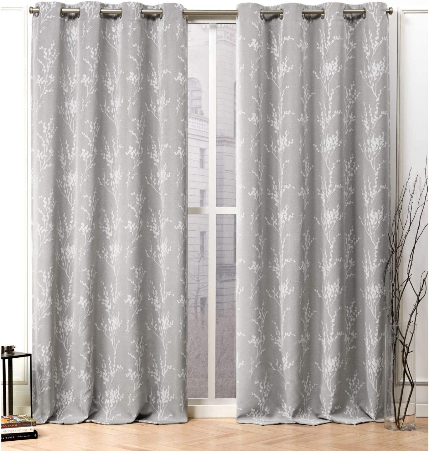 Nicole Miller Turion Cheap SALE Start Curtain Cheap super special price Panel Ash 2 Panels Grey 52x96