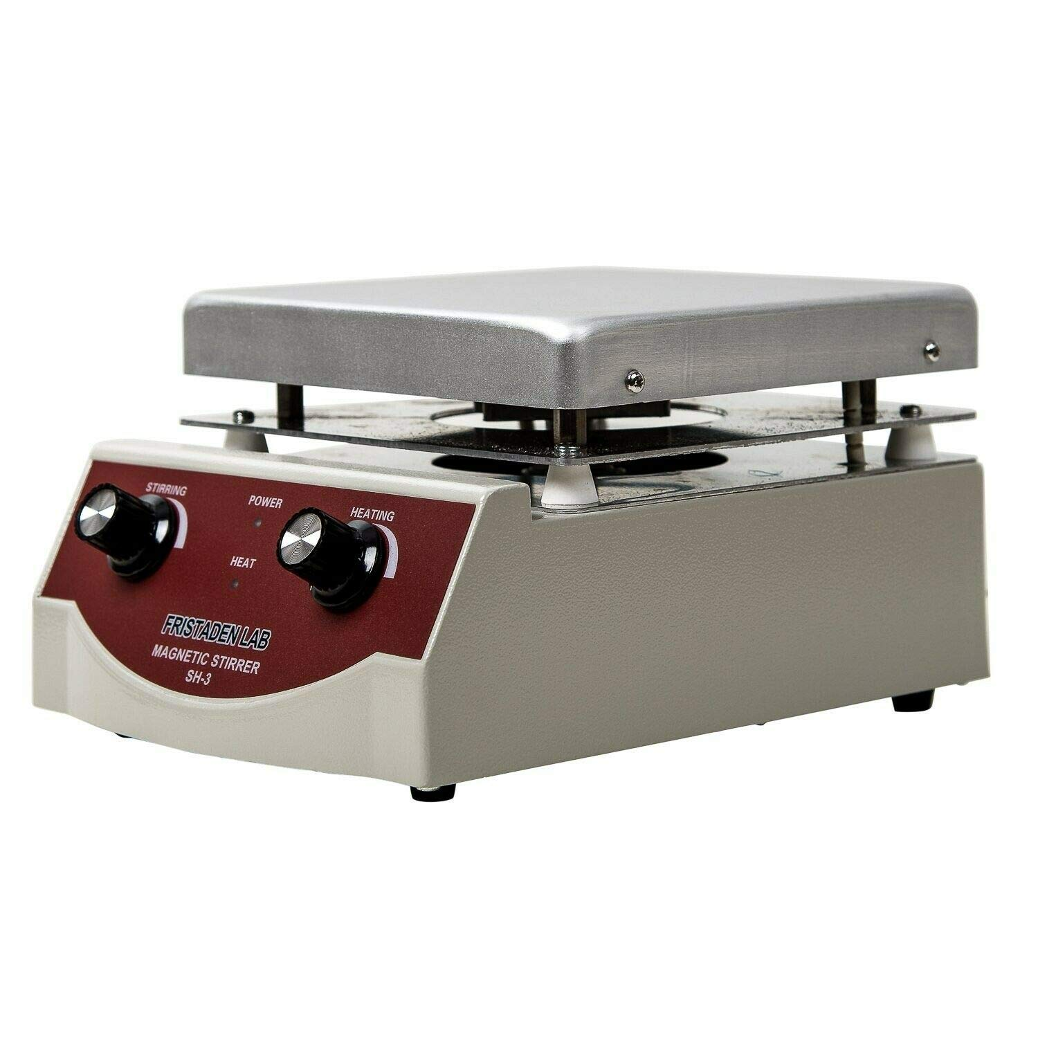 Fristaden Lab SH-3 Magnetic Stirrer Hot Plate Mixer | 100-1600rpm Stirring Speed | 350°C Temperature | 3,000mL Capacity | 1 Year Warranty | Lab Quality Hot Plate Stirrer for Liquid Heating and Mixing by Fristaden Lab