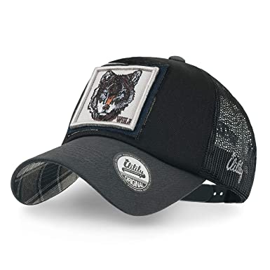 ililily Animal Square Embroidery Patch Casual Mesh Baseball Cap Trucker Hat  (Medium 1529dfc5ab2