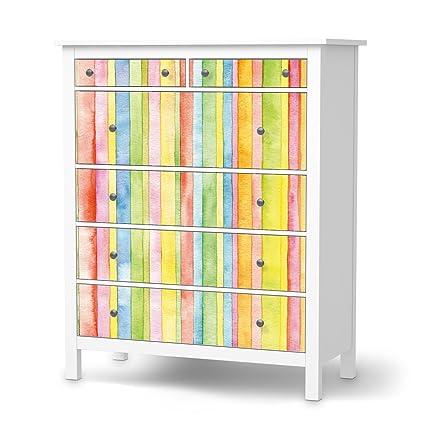 Diapositiva IKEA Hemnes cómoda{6} cajones/diseño adhesivo ...