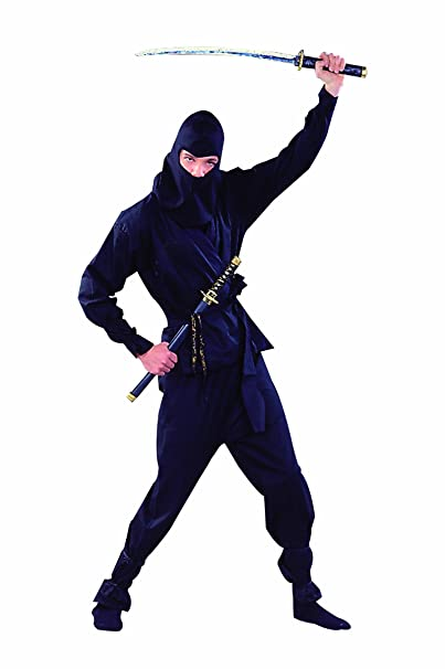 Amazon.com: RG Costumes Mens Deluxe Ninja Warrior, Black ...
