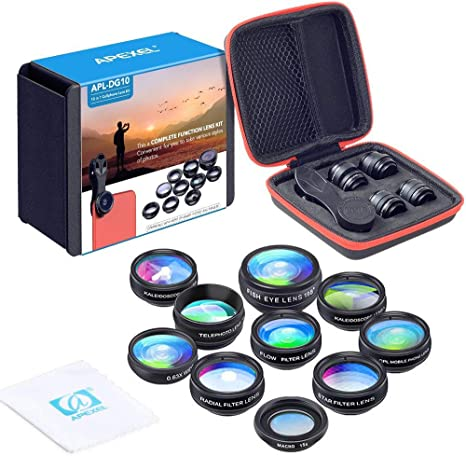 Apexel 10 in 1 Phone Camera lens kit Wide Angle lens: Amazon.co.uk ...