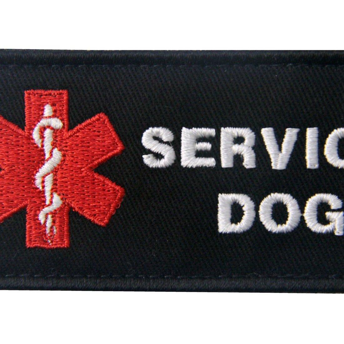Service Dog If Handler is Down Vests//Harnesses Emblem Embroidered Fastener Hook /& Loop Patch