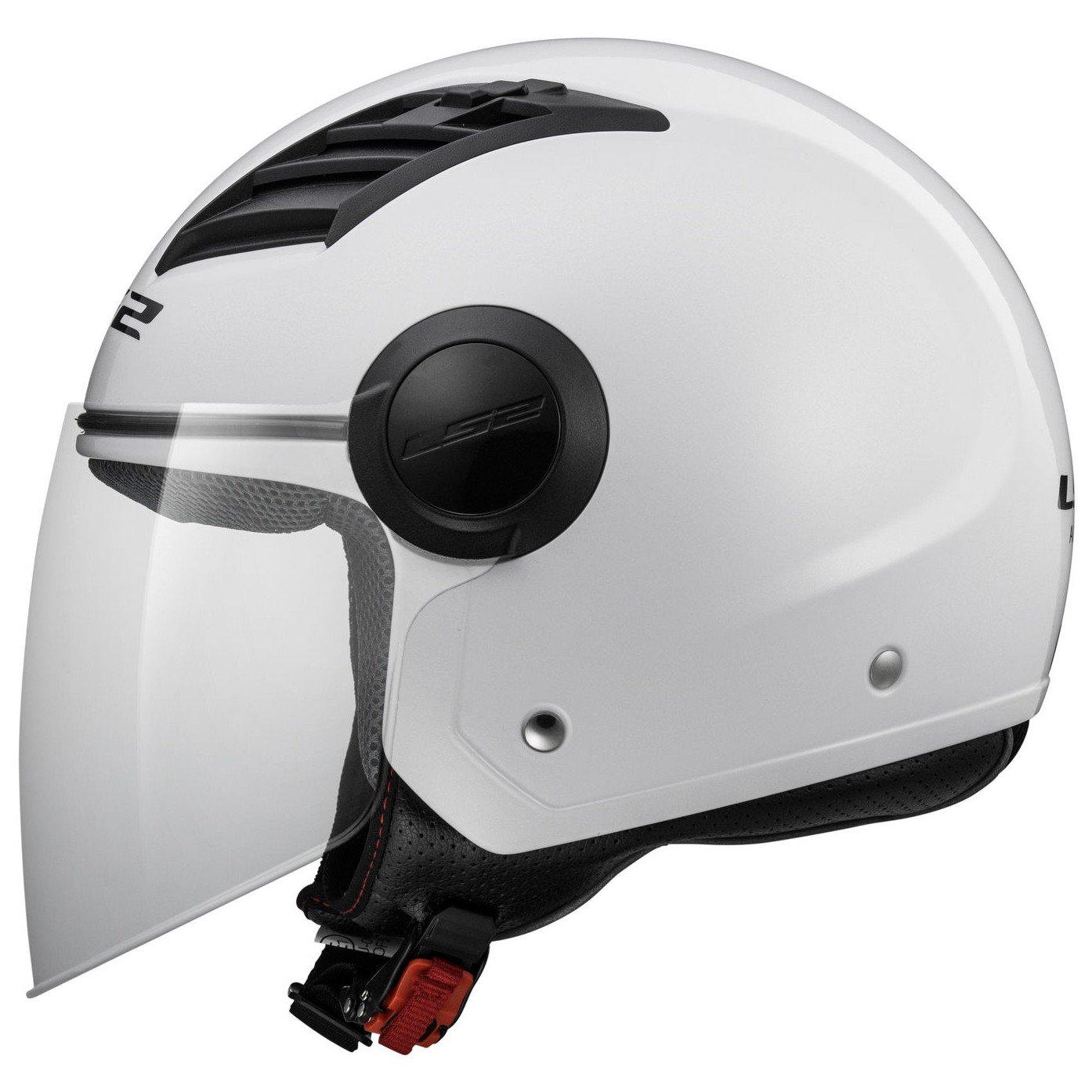 Casco abierto para moto LS2 Airflow L blanco brillo (L): Amazon.es: Coche y moto