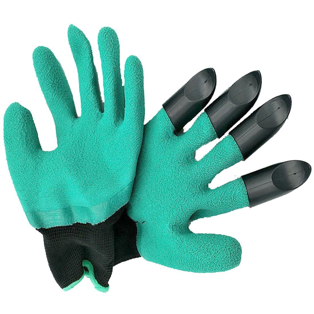 Meanch Unisex Waterproof Garden Genie Gloves with Fingertips Sturdy Right Claws Quick