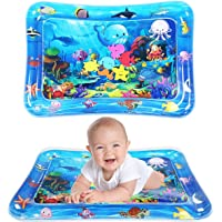Tummy Time Water Mat Inflatable Baby Water Play mat for 3 6 9 Months Newborn Girl & Boy Early Activity Center