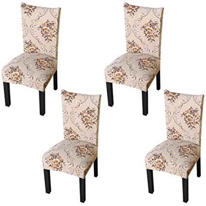 YISUN Dining Chair Slipcovers,[Scenery series] Stretch Removable Washable Dining Chair Protector Cover