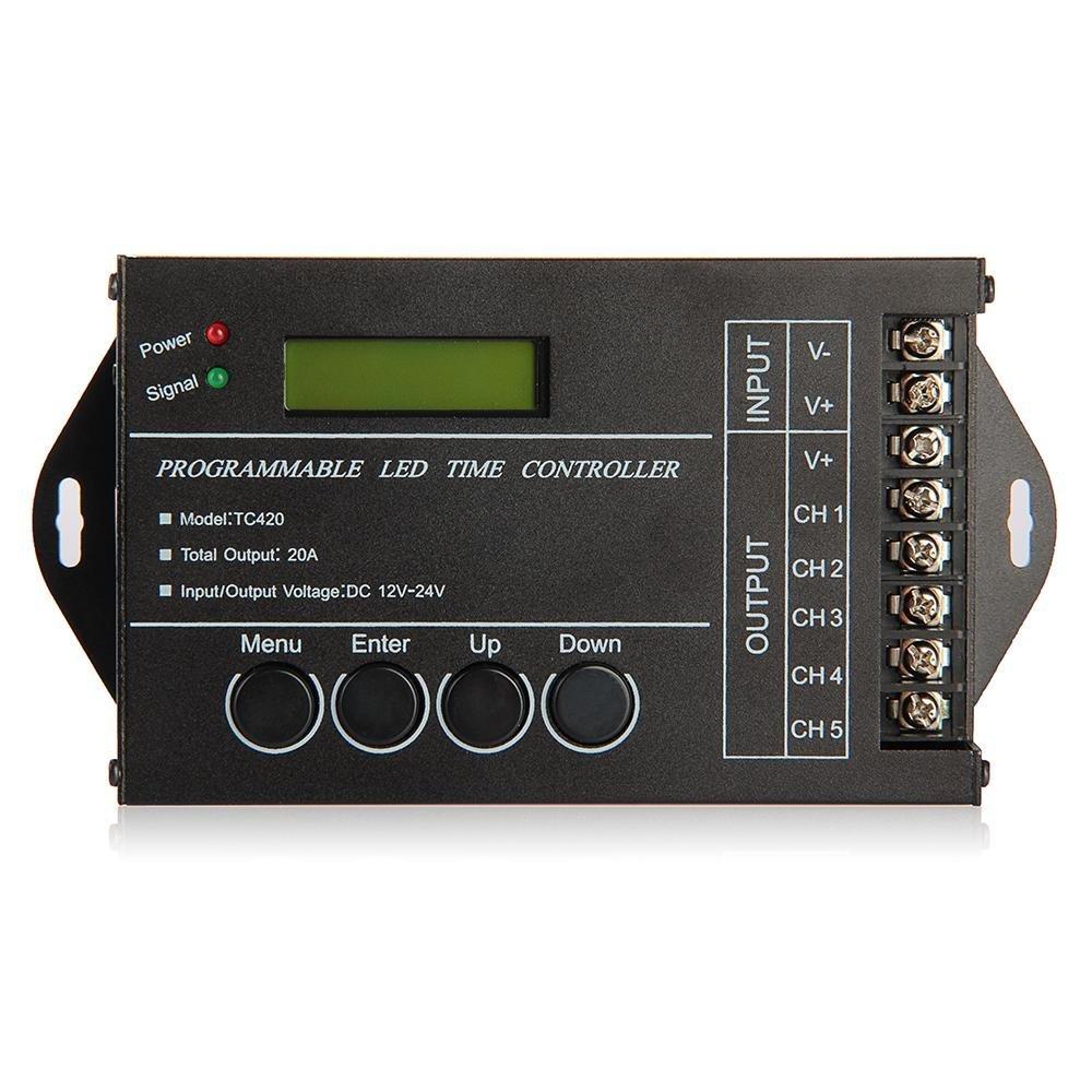 SODIAL (R) 20A Timer controller programmabile DC12-24V LED RGB / Singolo-colore striscia SODIAL(R) 031188