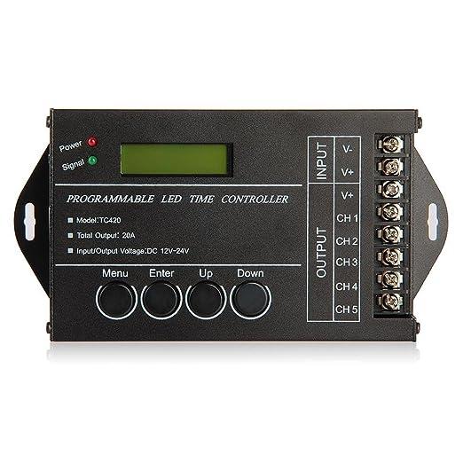 30 opinioni per SODIAL (R) 20A Timer controller programmabile DC12-24V LED RGB / Singolo-colore