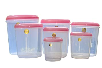 seal fresh plastic kitchen storage airtight and food grade containers   7 pc set  buy seal fresh plastic kitchen storage airtight and food grade      rh   amazon in