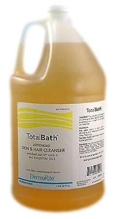 Dermarite Total Bath 2-in-1 Skin and Hair Cleanser 1 Gallon 128 Fl Oz