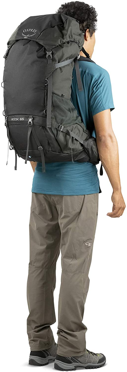 Black One Size Osprey Rook 65 Mens Rucksack Hiking