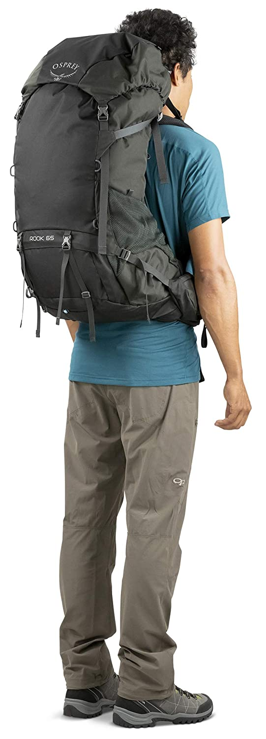 Osprey Rook 65 Men s Ventilated Backpacking Pack - Black (O S)   Amazon.co.uk  Sports   Outdoors c4a1f3513ccaa