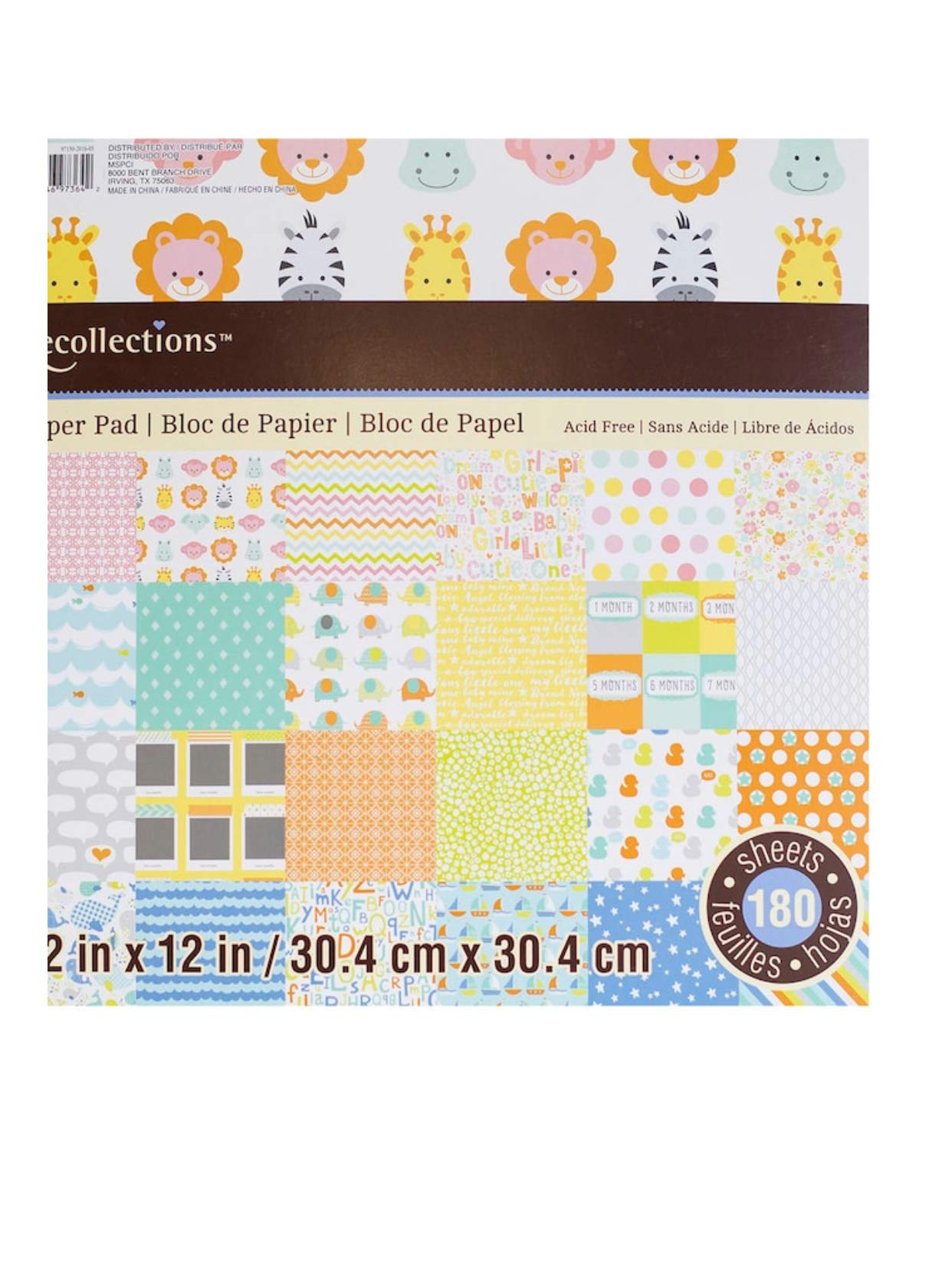 Baby Paper Pad 180 Sheets by Recollections 12 x 12
