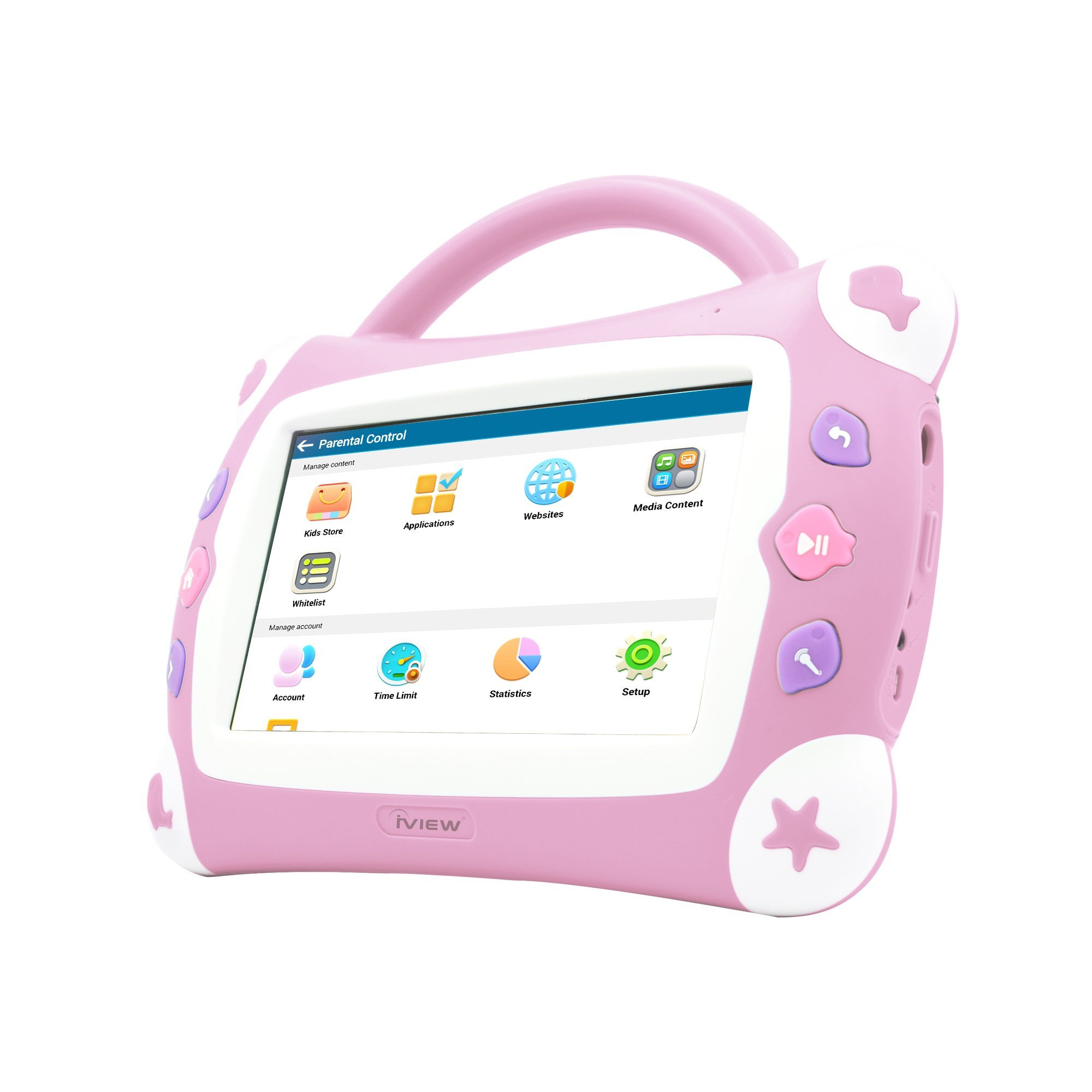 iView Sing Pad 711TPC, 7'' Kids Tablet with WiFi, Microphone, Preloaded Children's Games, Karaoke, Parental Control, Tablet Case with Built-in Stand by IVIEW (Image #2)