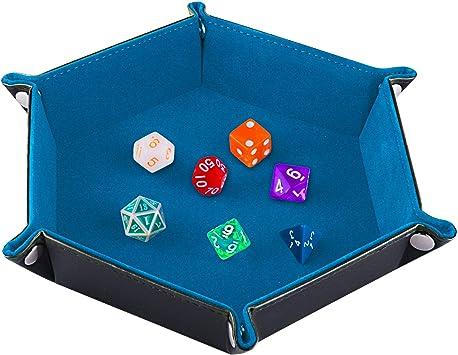 para Dados DND RPG Juegos de Mesa SIQUK Bolsa de Dados Grande Bolsa de Dados con Bolsillos