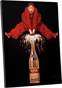 "Pingo World 0616QP2TFSA Spa Champaign Vintage Advertising Poster Gallery Wrapped Canvas Wall Art Print (20"" x 16""), Variable"