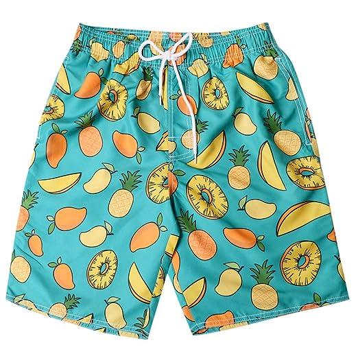 8ff71028ba9fe Amazon.com: Allywit Mens 3D Printed Tropical Fruit Swim Trunks Quick Dry  Beachwear Sports Running Swim Board Shorts: Electronics