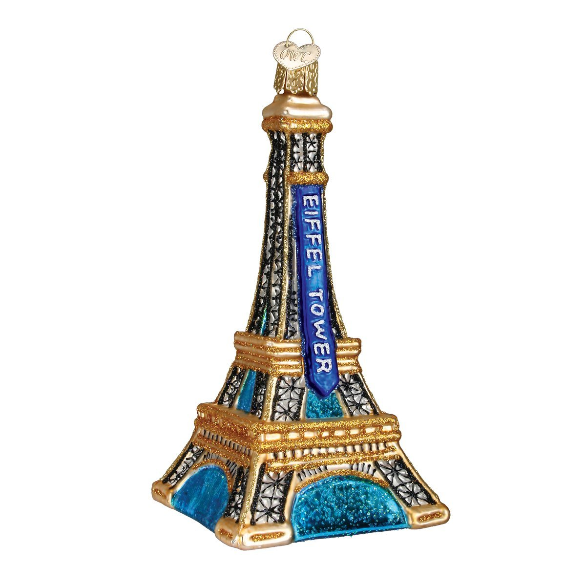 Old World Christmas Cities, Places and Landmarks Glass Blown Ornaments for Christmas Tree Eiffel Tower