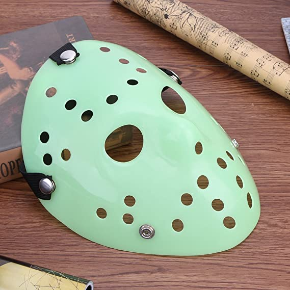 Amazon.com: Diamondo Halloween Masks Mascara Dance Gathering Jason Mask Horror Funny Mask (Luminous): Clothing