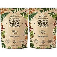 ChocZero's Keto Bark, Milk Chocolate Pecan, No Added Sugar, Low Carb, No Sugar Alcohols, No Added Sugar, (2 bags, 6 servings each)
