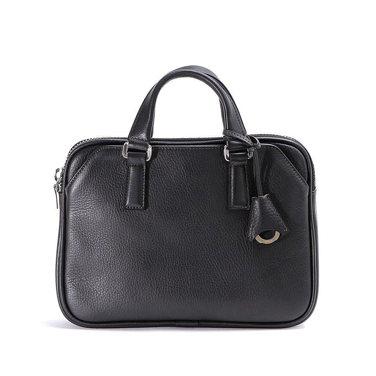 アニアリ クラッチ ミニブリーフバッグ Shrink Leather 07-01004 B0784GDT5Y チャコールグレー チャコールグレー