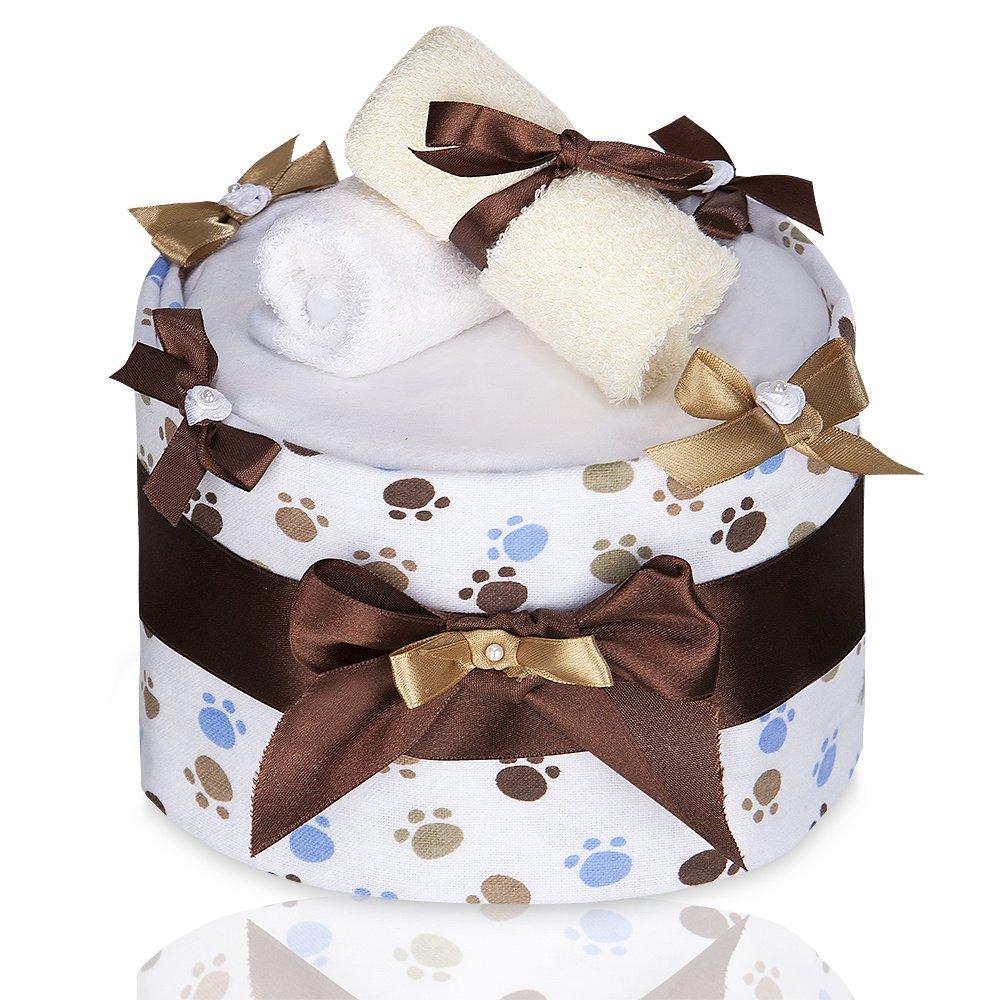 T-TOMI Eco–Lux Grande Torta di Pannolini, Bianco Zampe, Taglia Unica T-TOMI_TT 1825