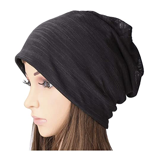ef0a15c74b3 SUOSDEY Women s Cotton Beanie Lightweight Turban Slouchy Beanie Hat Cap at  Amazon Women s Clothing store