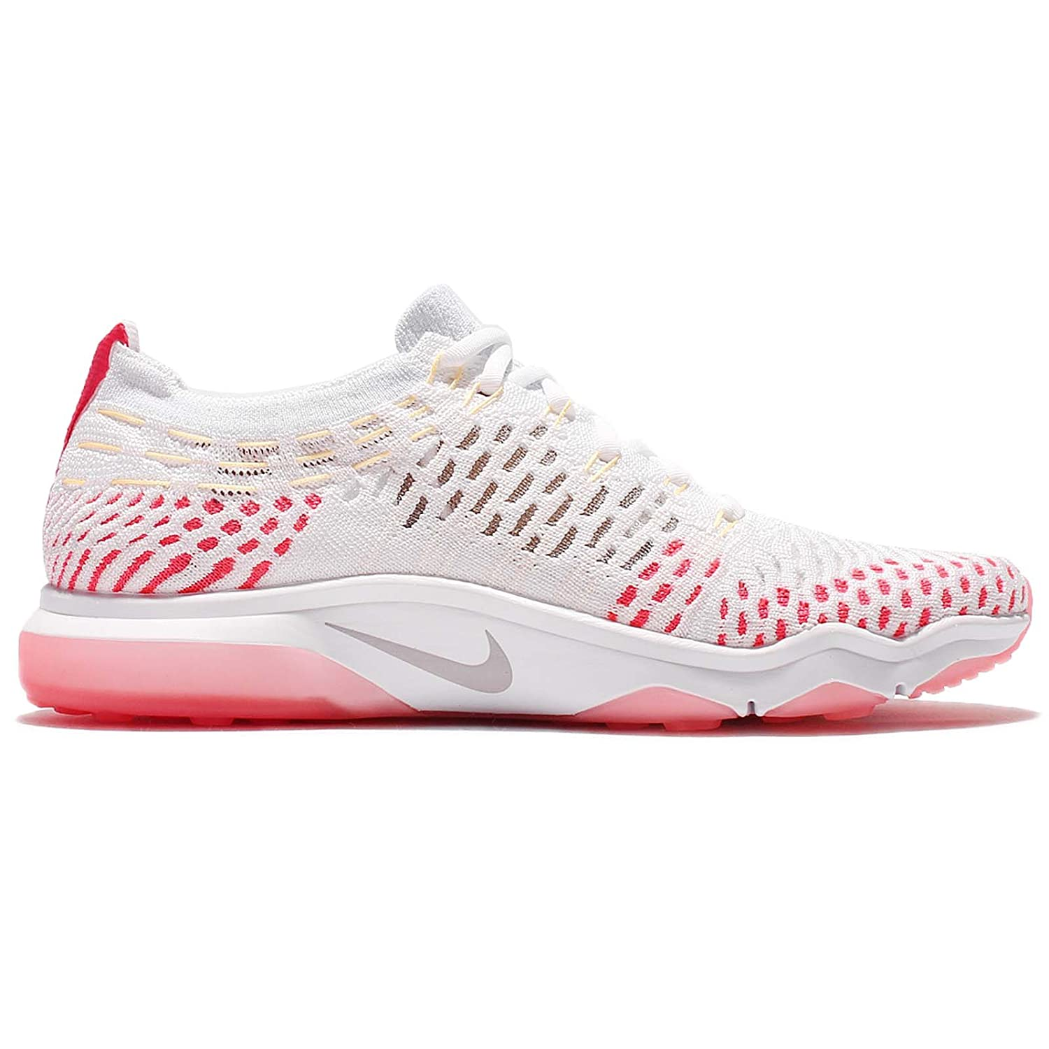 Nike Womens Air Zoom Fearless Flyknit White/Wolf Grey-Racer Pink-Melon Tint Size 10 US