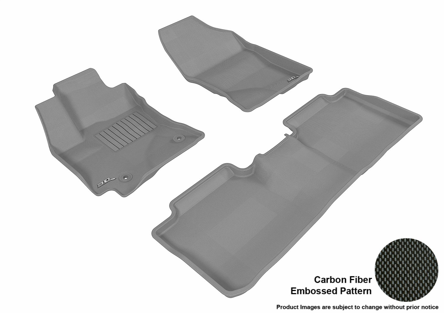 Kagu Rubber 3D MAXpider Second Row Custom Fit All-Weather Floor Mat for Select Toyota Corolla Models Black