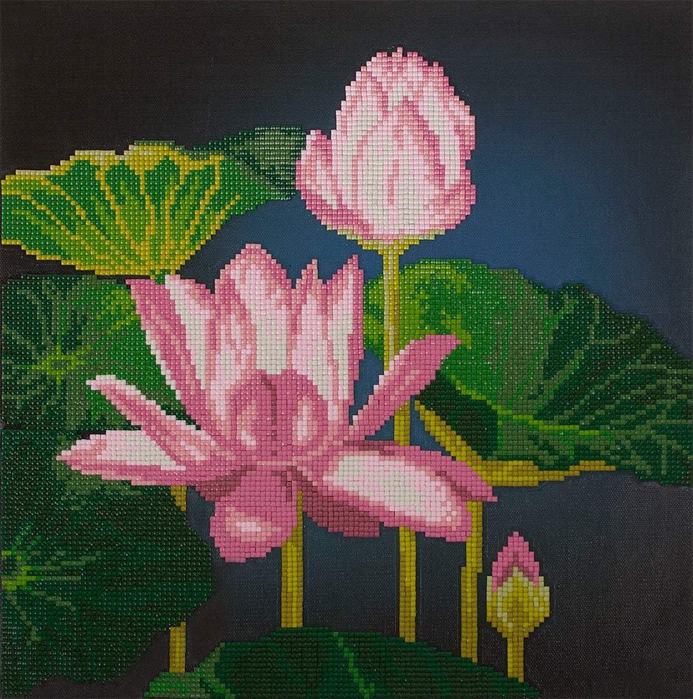 Fiore di Loto FREYJA Diamond 3D Painting 32,6 x 31,7 cm Motivo