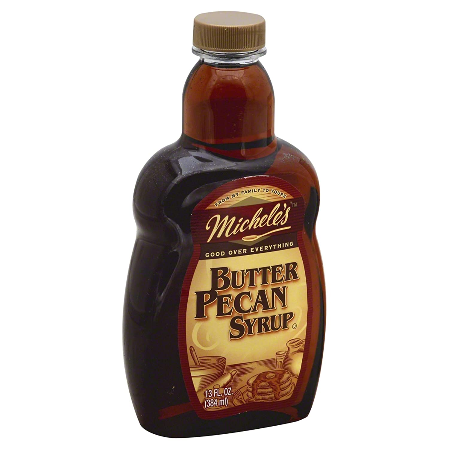 Michelles, Syrup Butter Pecan, 13 oz