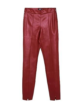 c18cf8efbdda8 Zara Women Faux Leather Leggings 7102/219 (X-Small) Red at Amazon ...