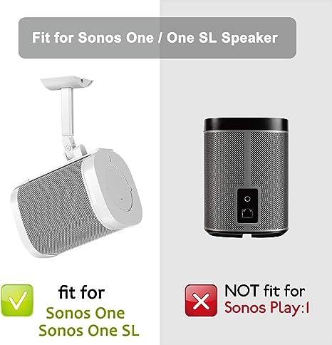 deleyCON 1x Fijo Soporte de Pared para SONOS One SL Negro /& SONOS Play:1 Soporte para Altavoz Metal