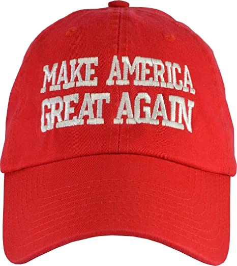 3396d3aa851 Amazon.com  Donald Trump Make America Great Again Hat (100% USA Made) Red  Hat Strap Back  Clothing