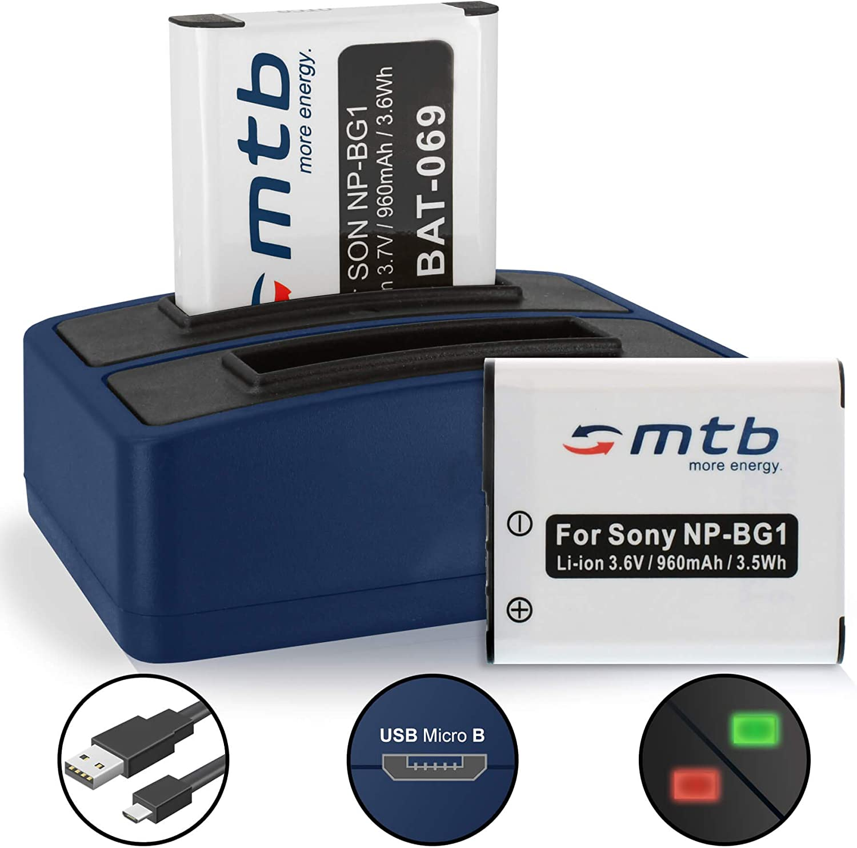 NP-BG1 NP-FG1 Batería Cargador Para Sony Cybershot DSC-HX5V DSC-N1 DSC-N2 DSC-T100