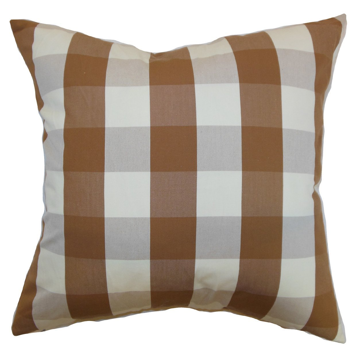 Queen//20 X 30 The Pillow Collection QUEEN-MVT-1198-BROWN-S100 Brown Kamuela Plaid Bedding Sham