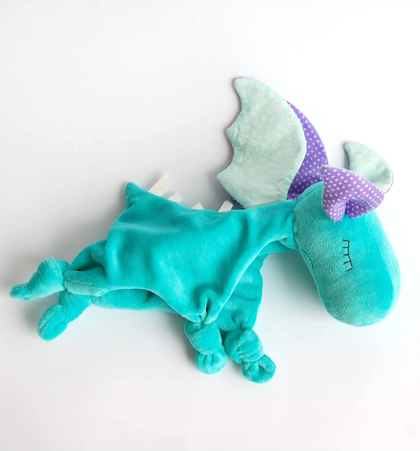 Personalized Baby Dragon Toy Baby Lovies Cozy Taggies Blanket