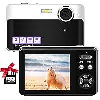 Digital Camera,2.4 inch 24megapixels vlogging Camera,Mini Digital Camera,Screen Camera with Digital Zoom Macro Compact Cameras for Beginners