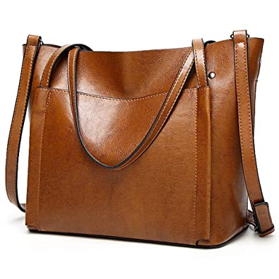4736c3ad676bd OMIU Women Handbags Simple Shoulder Bags Messenger Tote Bags PU Leather  Fashion Handbags for Womens 355